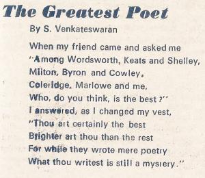 The Greatest Poet