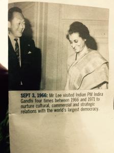 LKY with Indira Gandhi