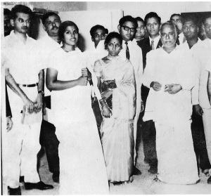 Mom with Annadurai, then Chief Minister of Tamil Nadu