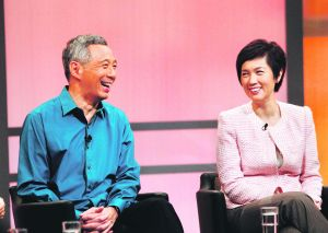 Ms Josephine Teo with PM Lee Hsien Loong