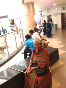 Mom at the Phoenix Mall, Dec, 2013 - less than a year before she passed away