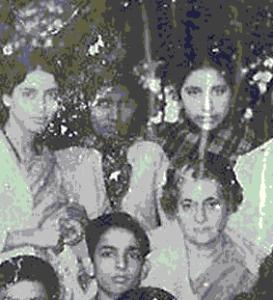 Mom with Indira Gandhi