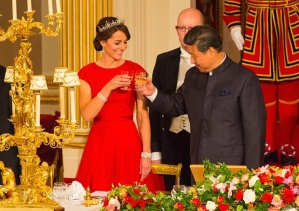 A toast for Mr Xi from the Duchess of Cambridge
