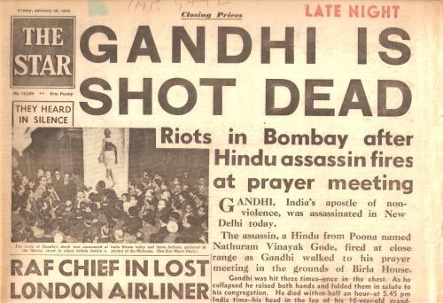 Gandhi shot dead