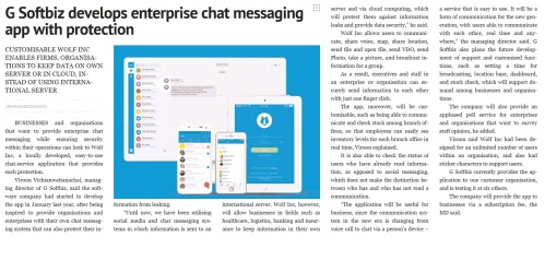 Thai firm G Softbiz develops enterprise chat messaging app with protection