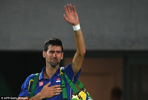 Djokovic in tears