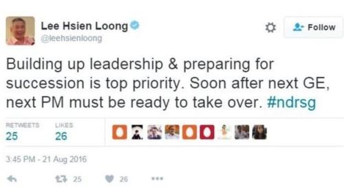 Lee's tweet