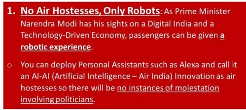 Robots on flights