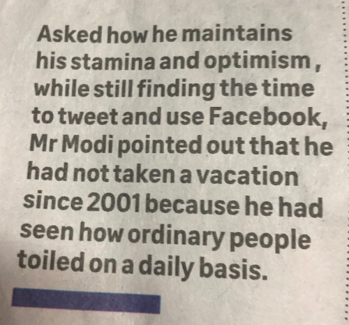 How Modi maintains his stamina